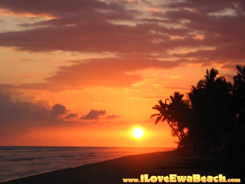 beach sunset. Ewa Beach Sunset 11/05/08